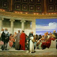 Delaroche Hemicycle Of The Ecole Des Beaux-arts 1814 Right