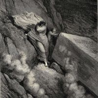 Dore Gustave 31 From The Profound Abyss Behind The Lid Of A Great Monument We Stood Retir-d