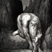 Dore Gustave 66. He Placed Us Carefully On The Bottom Of The Gorge Where Lucifer And Judas Are To