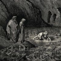 Dore Gustave 69. As Tydee Angrily Gnawed Menelippes Temples He Was Also Biting Into His Skull And
