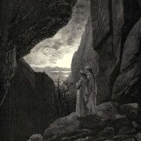 Dore Gustave 74. My Guide And I Entered The Hidden Path Leading To Our Well Lighted World