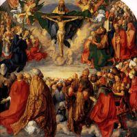 Durer Adoration Of The Trinity