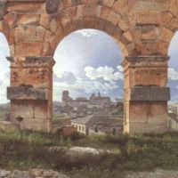 Eckersberg Cw View Through Three Northwest Arches Of The Colosseum