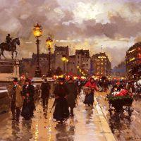 Edouard Cortes Le Pont Neuf Paris