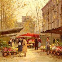 Edouard Cortes Marche Aux Fleurs A La Madeleine