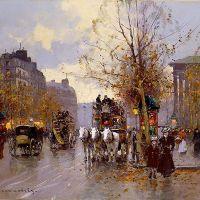 Edouard Cortes Omnibus On Place Madeleine
