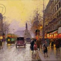 Edouard Cortes Wet Day In Paris
