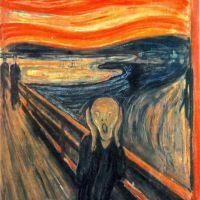 Edvard Munch The Scream - Skrik - Version 1