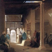 Frere Interior Of A Moorish Cafe