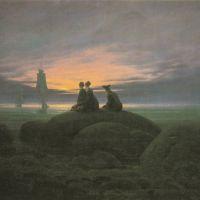 Friedrich Caspar David Mondaufgang Aus Meer