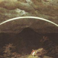 Friedrich Caspar David Mountain Landscape With Rainbow