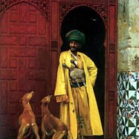 Gerome An Arab And His Dog