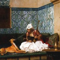 Gerome Arnaut Blowing Smoke At The Nose Of His Dog