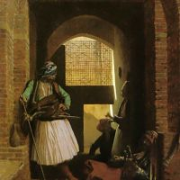 Gerome Arnauts Of Cairo At The Gate Of Bab-el-nasr