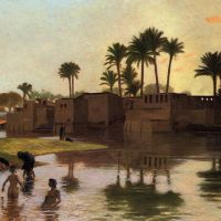 Gerome Bathers By The Edge Of A River