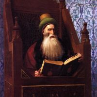 Gerome Mufti Reading In His Prayer Stool