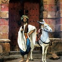 Gerome Sais And His Donkey