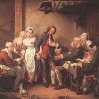 Greuze Jean Baptiste L Accordee Du Village The Village Betrothal