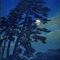 Hasui Kawase Moon At Megome 1930