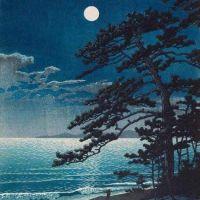 Hasui Kawase Spring Moon At Ninomiya Beach 1932