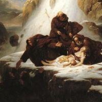Hersent Louis Les Religieux Du Mont Saint Gothard