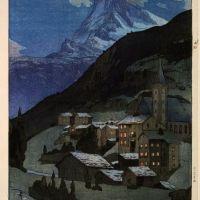 Hiroshi Yashida Matterhorn Night - 1925
