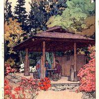 Hiroshi Yoshida Azalea Garden 1936