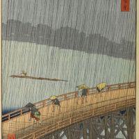 Hiroshige Atake Sous Une Averse Soudaine 1857
