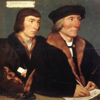 Holbien The Younger Double Portrait Of Sir Thomas Godsalve And His Son John