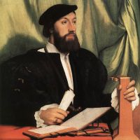 Holbien The Younger Unknown Gentleman With Music Books And Lute