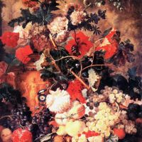 Huysum Jan Van Flowers And Fruit