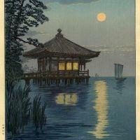 Ito Yuhan Ukimido Shrine At Lake Biwa 1930
