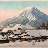 Kawase Hasui Clearing After A Snowfall - 1944