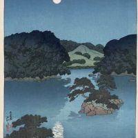 Kawase Hasui Moonlit Night - Daisensui Pond - 1920