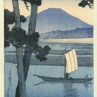 Kawase Hasui Mount Fuji With Sailboat 1920