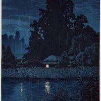 Kawase Hasui Nocturnal With Rain In Omiya 1930