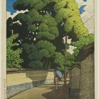 Kawase Hasui Shimohonda - Machi-kanaza - 1921