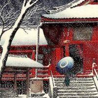 Kawase Hasui Snow At Kiyomizo Hall In Ueno 1929
