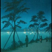Kiyochika Kobayashi Night Scene At Sumida River