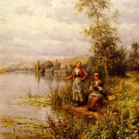Knight Country Women After Fishing On A Summer Afternoon