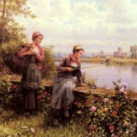 Knight Maria And Madeleine Fishing