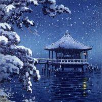 Koitsu Tsuchiya Floating Pavillion Of Katada In Snow 1934