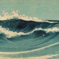 Konen Uehara Hato Zu Ocean Waves C. 1900-20