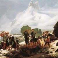 Leprince Auguste Xavier Paysage De Susten En Suisse