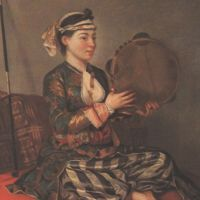 Liotard Je Turkish Woman With A Tambourine