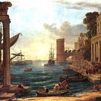 Lorrain Claude Paysage Avec L Embarquement De La Reine De Saba