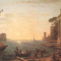 Lorrain Claude Seaport At Sunrise