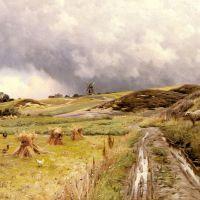 Monsted A Pastoral Landscape After A Storm