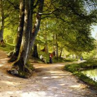Monsted Den Rode Paraply The Red Umbrella 1888