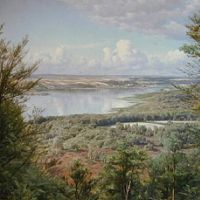 Monsted Himmelbjergit View Over Jul Lake From H.c. Andersen-s Creek